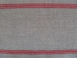 Leinenbandschlauch natur-rot (15cm)
