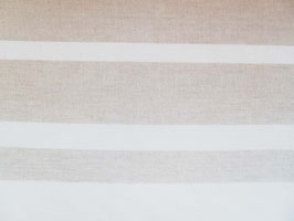 Leinenband natur - gebleicht quer gestreift (28cm)