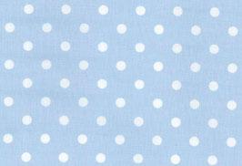 Capri, blau mit gr. weißen Punken