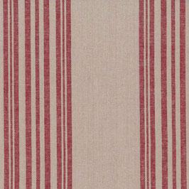 Halbleinen natur mit roten Streifen
