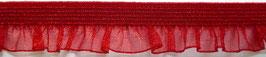 Rüschenband Organza elastisch rot