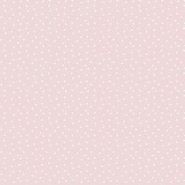 Baumwollstoff Tupfen altrosa-weiß