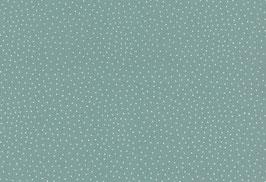 Capri, türkisgrün mit kl. weißen Punkten