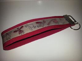 Schlüsselband - rot mit Herzensengel