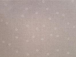 Leinenband natur mit weißen Sternen (10cm)
