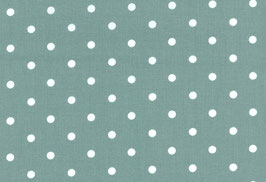 Capri, türkisgrün mit gr. weißen Punkten