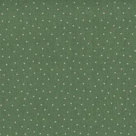 Halbleinen grün gepunktet