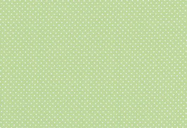 Capri, grün mit kl. weißen Punken