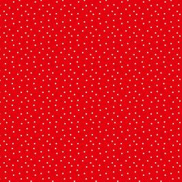 Baumwollstoff Tupfen rot-weiß