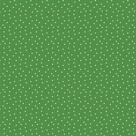 Baumwollstoff Tupfen grün-weiß