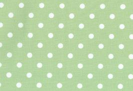 Capri, grün mit gr. weißen Punken