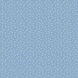 Baumwollstoff Tupfen graublau-weiß