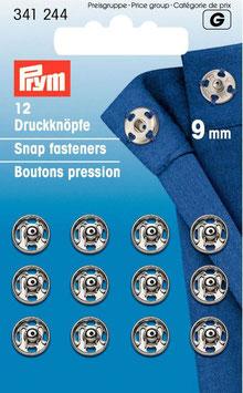 12 Druckknöpfe 9mm (silber)
