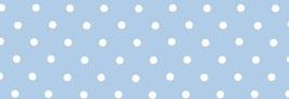 Schrägband blau mit weißen Punkten