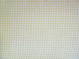 Leinenband hellgrün - gebleicht kariert (20cm)