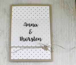 Einladungskarte mit transparenter Banderole zur Hochzeit No 3