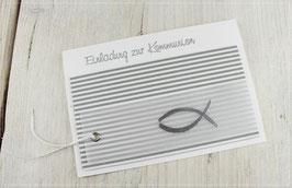Einladung zur Kommunion, Konfirmation mit Druck des Einladungstextes No 10