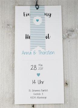 Einladung zur Hochzeit, Fächerkarte No 15