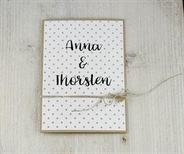 Einladungskarte zur Hochzeit mit Druck des Textes in die Karte No 2