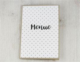 Menükarte zur Hochzeit mit Druck des Menüs in die Karte No 6