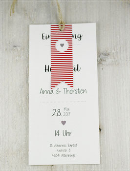 Einladung zur Hochzeit, Fächerkarte No 14