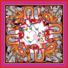 Foulard soie Amour Amor CS1055-C