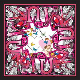 Foulard soie Amour Amor CS1055-A