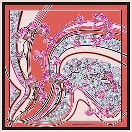 Foulard soie Arabesques florales CS2089-C