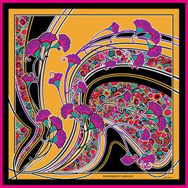 Foulard soie Arabesque florales CS2089-A