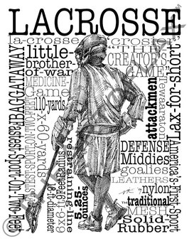 Word Montage--LACROSSE (Male)