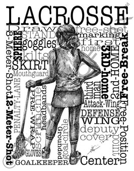 Word Montage--LACROSSE (Female)