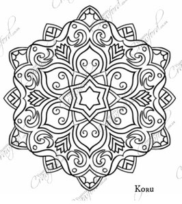Large Embroidery Design Template