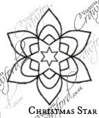 Individual Small Stars Embroidery Design Templates