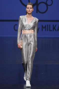 Jumpsuit FIDELIDADE DISCO Silver - RUNWAY PROOF!