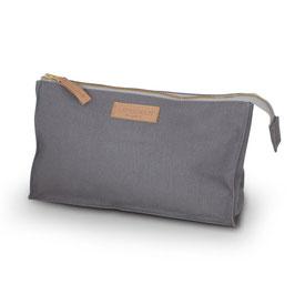 Canvas Toilet Bag Small Dark Gray