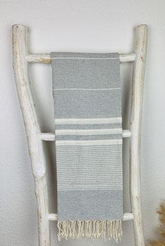 Hamamtuch Apollonia grau/weis