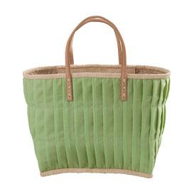 RICE Tasche Grün mit Ledergriffen