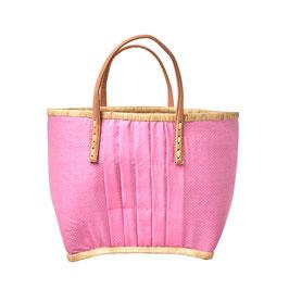 RICE Tasche Pink mit Ledergriffen