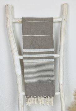 Hamamtuch Apollonia braun/weiß