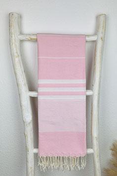Hamamtuch Apollonia rosa/weiß