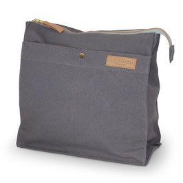 Canvas Toilet Bag Large Dark Gray
