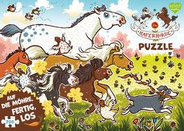 Die Haferhorde Puzzle - Auf die Möhre, fertig, los!