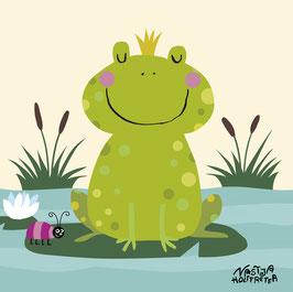 Mein buntes Kinderzimmerbild – Prinz Frosch