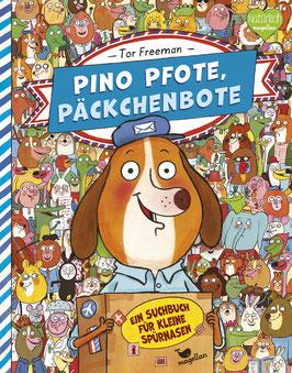 Pino Pfote, Päckchenbote – Ein Suchbuch für kleine Spürnasen– Band 1