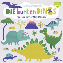 Die bunten Dinos – Wo ist der Unterschied?