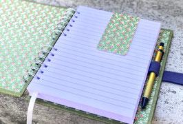 Notiz-/ Tagebuch in Drahtkammbindung