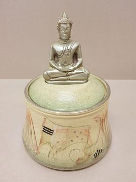 "Keramikdose ""Buddha"""