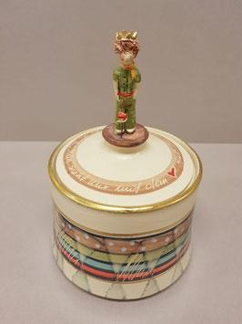 "Keramikdose ""Kleiner Prinz"" farbig"
