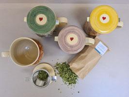 Teehäferl mit Filter und Deckel
