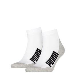 Puma Cushioned Quarter Damen und Herren Socken 4er Pack